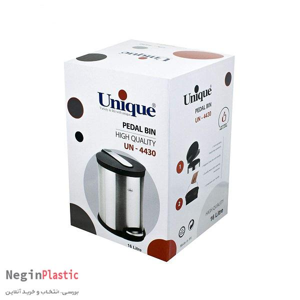 سطل زباله 16 لیتری استیل یونیک UN-4430