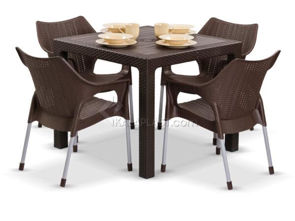 ست میز و صندلی چهار نفره موناکو 991 323