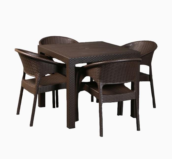 ست میز و صندلی ۴ نفره ناصرمدل حصیر بافت ۹۹۲ ۳۲۳